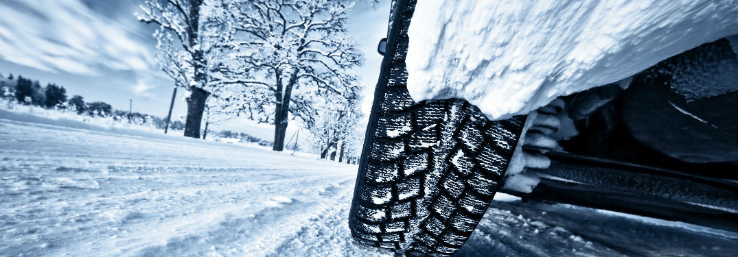 View of Tire in winter