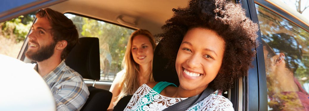 Young people in a vehicle
