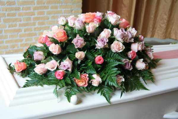 Flowers at a funeral