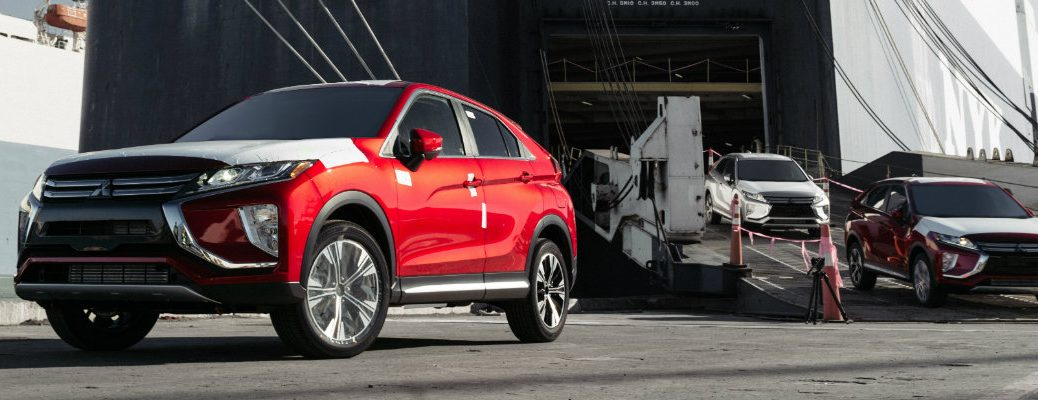 Red Mitsubishi Eclipse Cross fresh off the assembly line