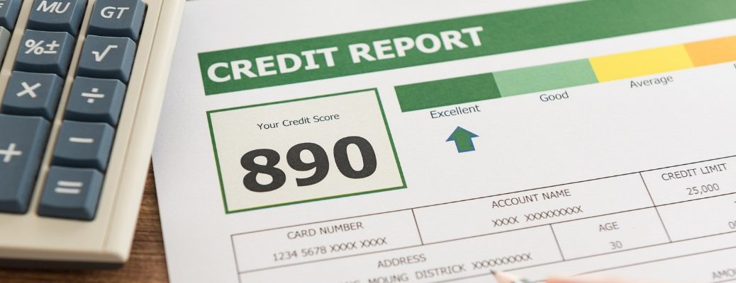 Isolated image of credit score