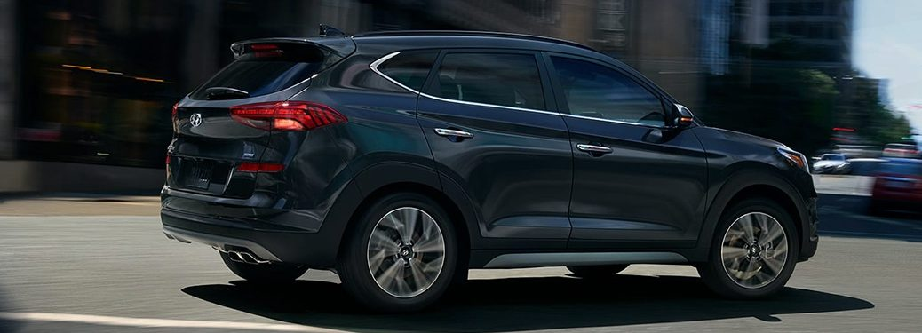 2020 Hyundai Tucson making a turn in the road