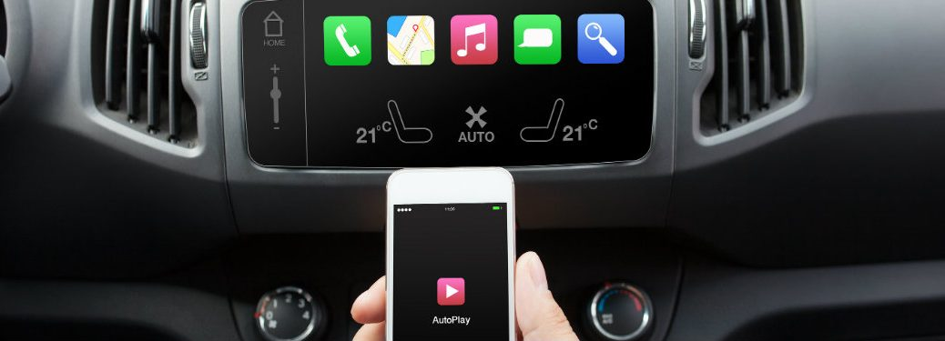 Phone connecting to a car media console