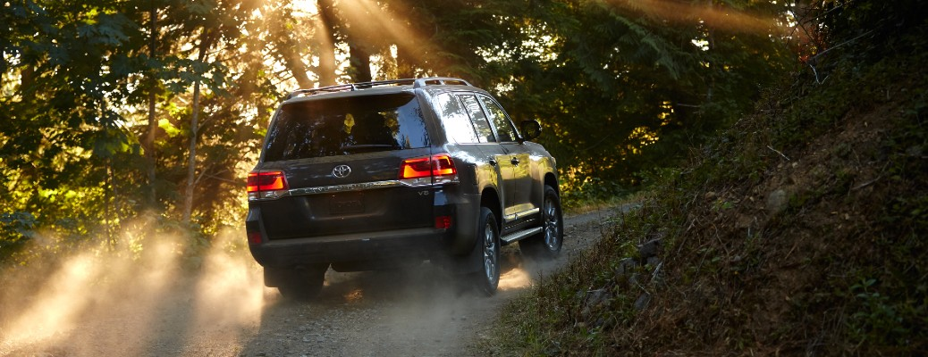 2020 Toyota Land Cruiser Heritage Edition on hill in woods