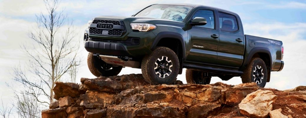 2022 Toyota Tacoma Trail Special Edition On a Rock