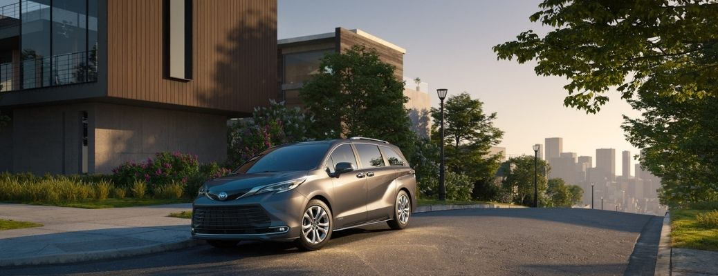2021 Toyota Sienna on the road