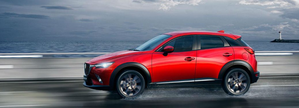 2020 Mazda CX-3 driving on a road