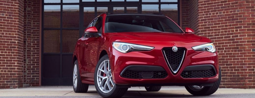 2020 Alfa Romeo Stelvio parked outside front view