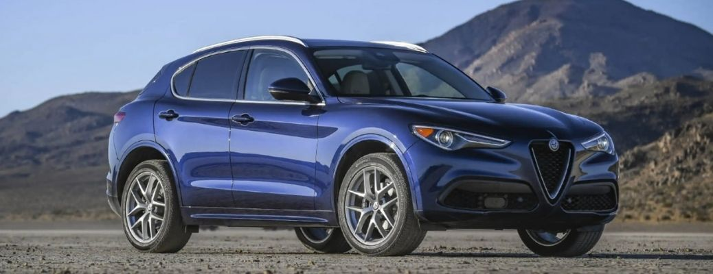 front and side view of the 2021 Alfa Romeo Stelvio