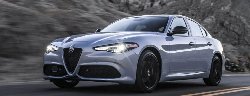 front and side view of the 2021 Alfa Romeo Giulia