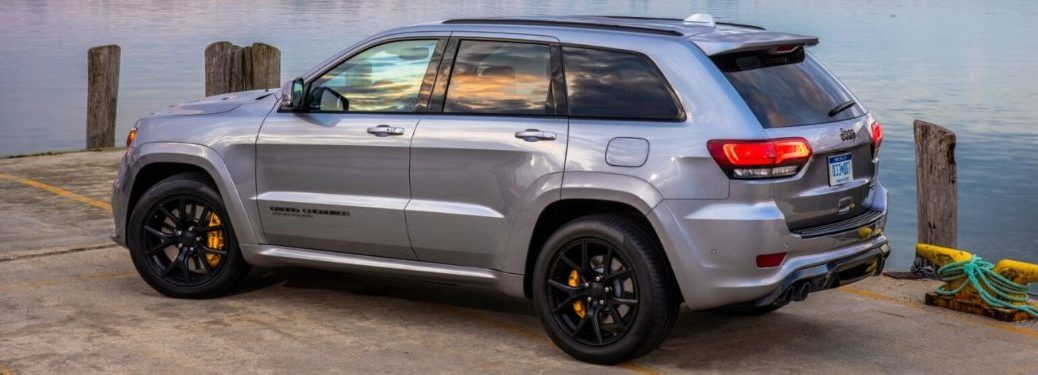 2020 Jeep Grand Cherokee parked on a pier