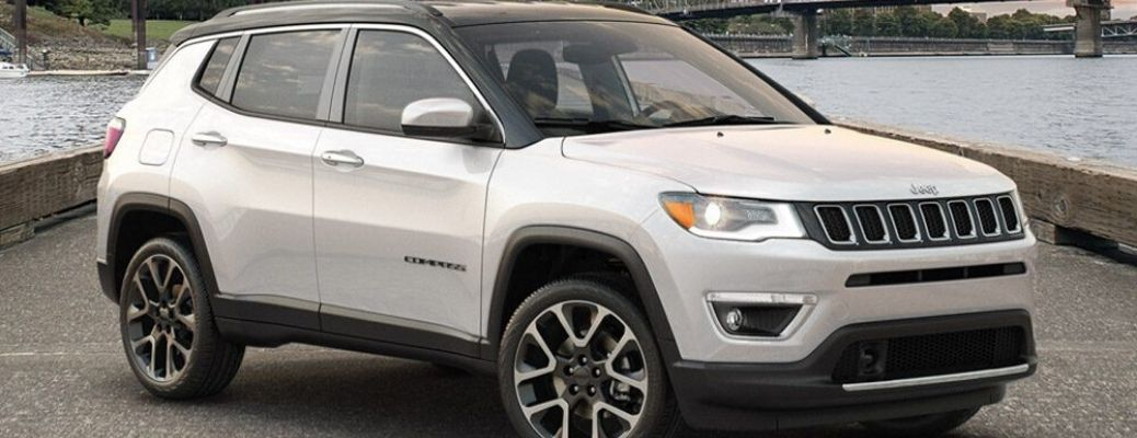 2020 Jeep Compass parked by water