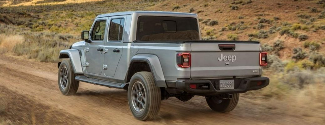 2020 Jeep Gladiator driving outside rear view