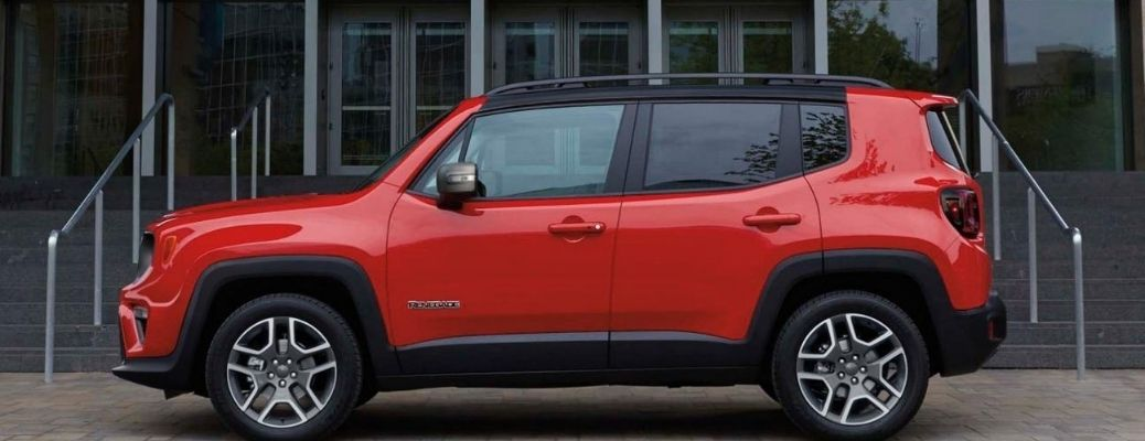 2020 Jeep Renegade parked outside side view
