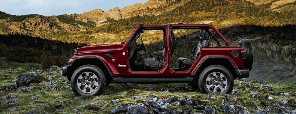 2021 Jeep Wrangler parked outside side view