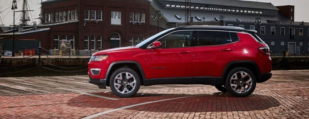 2021 Jeep Compass parked outside side view