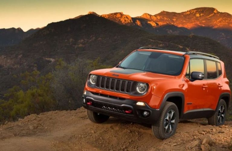 2021 Jeep Renegade parked on hill