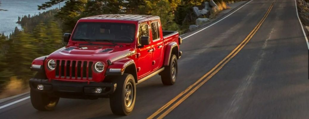 2021 Jeep Gladiator driving front view