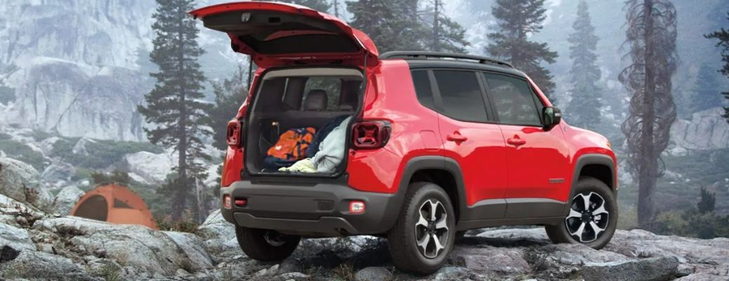2021 Jeep Renegade parked on a hill