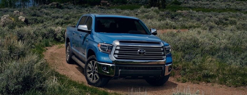 2021 Toyota Tundra on a dirt road