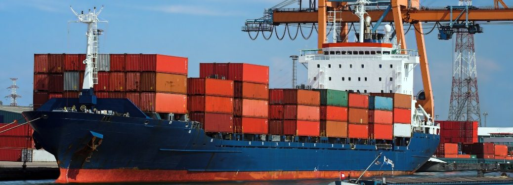 ship full of shipping containers