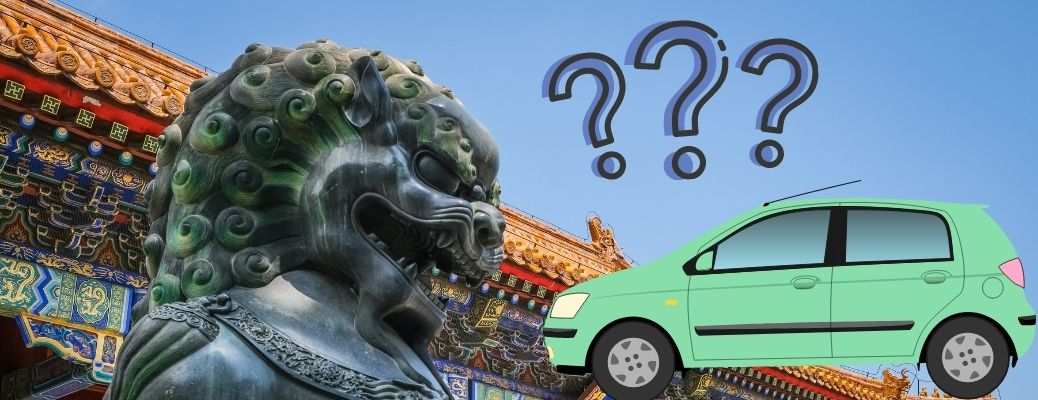 Hyundai vehicle questions itself at a Chinese temple