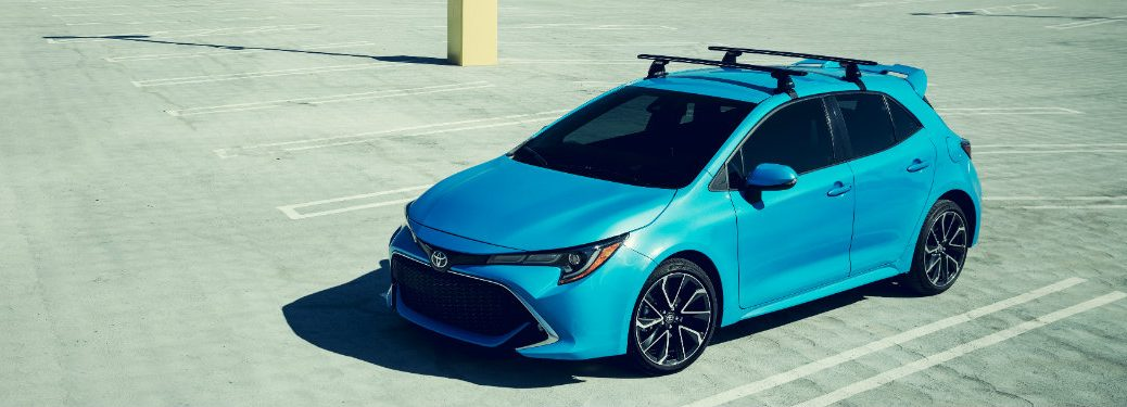 2019 Toyota Corolla Hatchback exterior blue view from above
