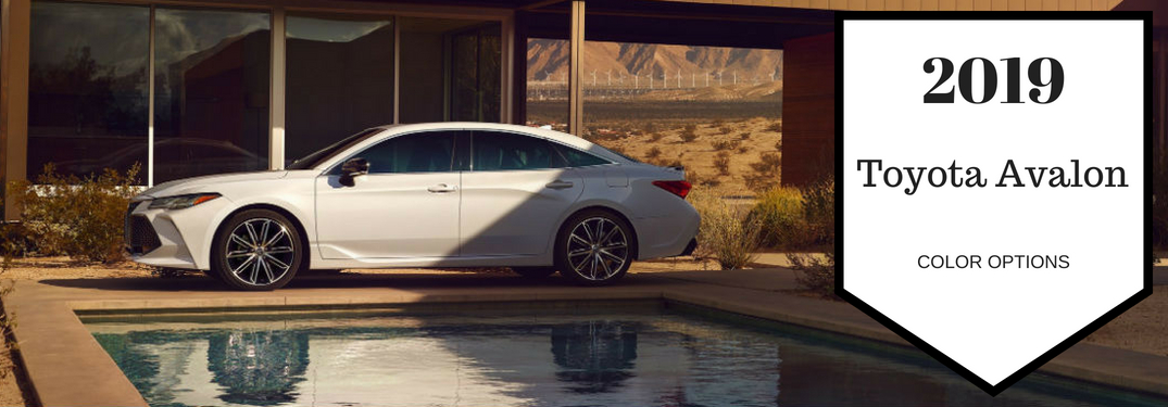 What are the Interior & Exterior Color Options for the 2019 Toyota Avalon?