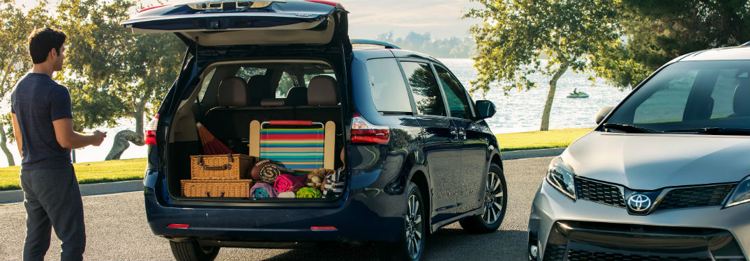how much cargo passenger space does the 2019 toyota sienna have alamo toyota 2019 toyota sienna