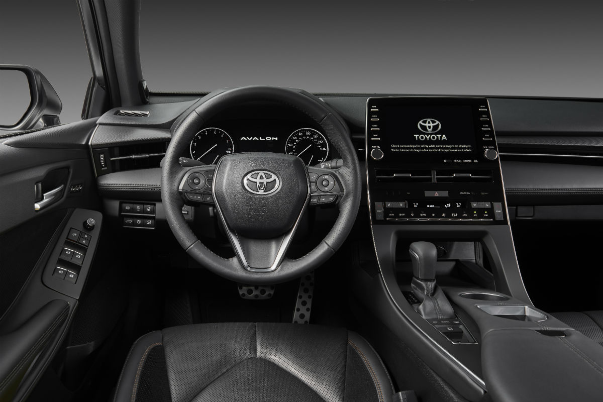Driver's cockpit of the 2019 Toyota Avalon