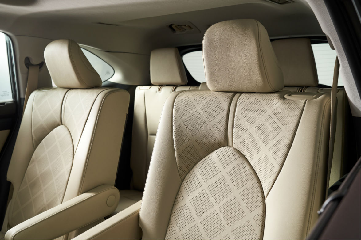 Closeup view of the second row captain's chairs in the 2020 Toyota Highlander
