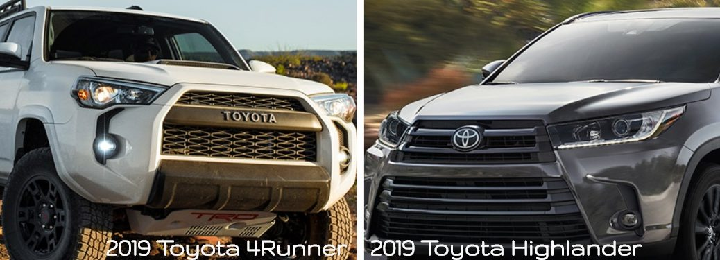 2019 Toyota Highlander vs 2019 Toyota 4Runner