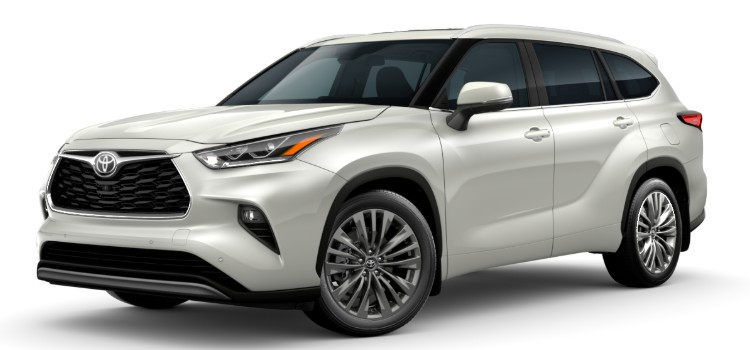 2020 Toyota Highlander Exterior Paint Colors