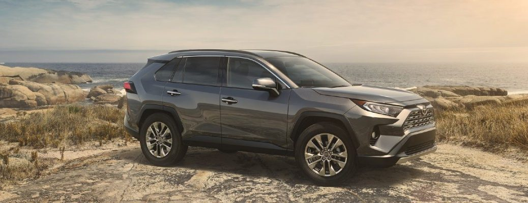 2019 Toyota RAV4 by the ocean
