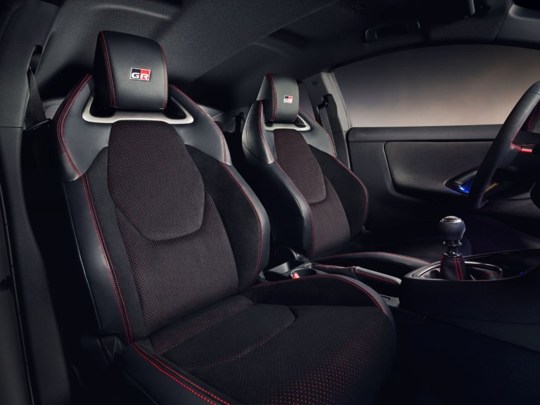 Cabin of the 2020 Toyota GR Yaris