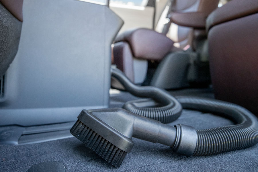 A photo of the available vacuum in the 2021 Toyota Sienna.