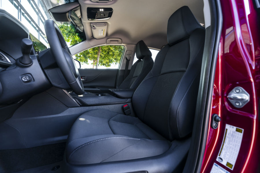 A photo of the front seats in the 2021 Toyota Venza