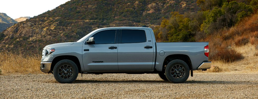 A left profile photo of the 2021 Toyota Tundra Trail Special Editon.