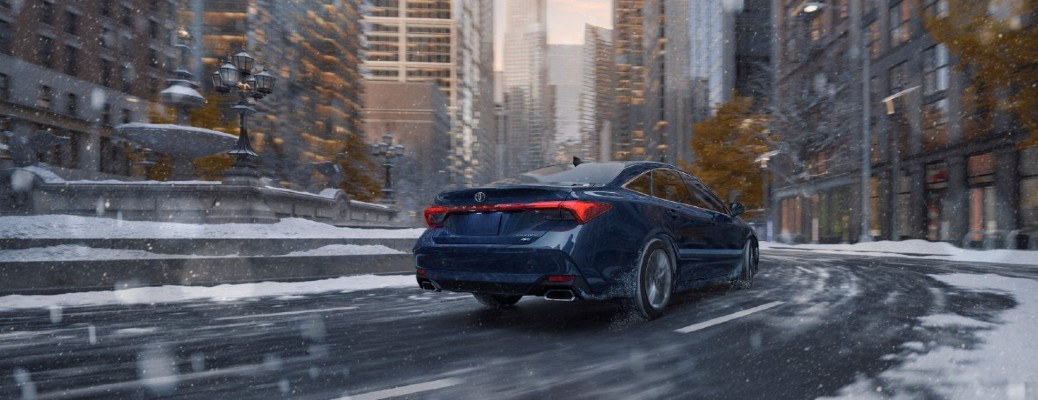 2021 Toyota Avalon in a city with snow