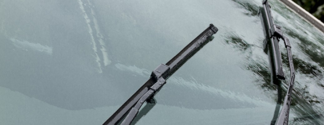 windshield wipers on a windshield