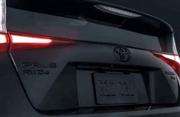 2022 Toyota Prius Nightshade taillight and rear number plate.