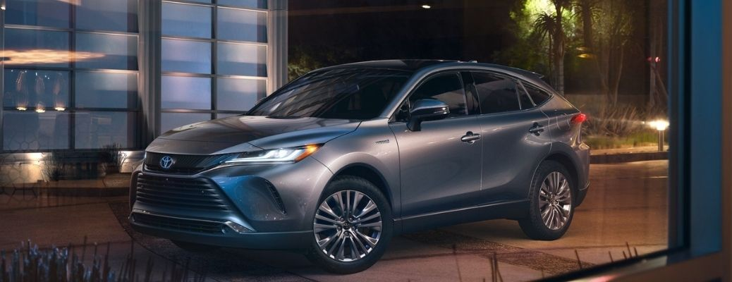 2021 Toyota Venza parked in front of a building.