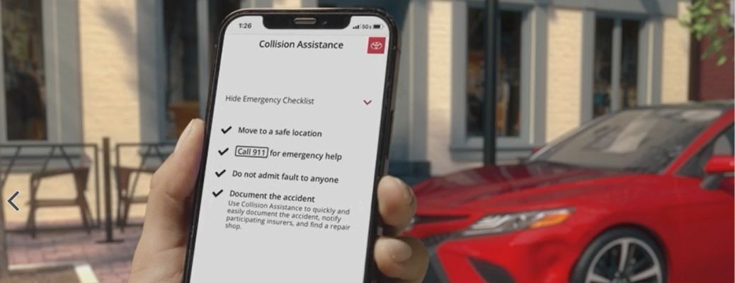 What does Toyota mobile collision assistance service do?