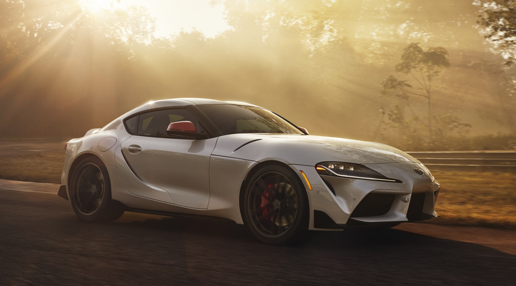 2020 Toyota Supra glistening in the sun