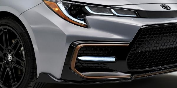 Close Up of 2021 Toyota Corolla Apex Edition Grille