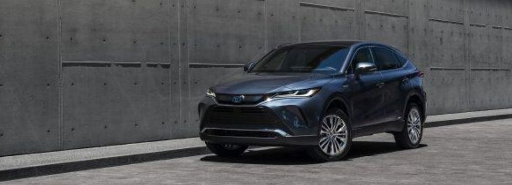 Blue 2021 Toyota Venza Limited in Front of Concrete Wall