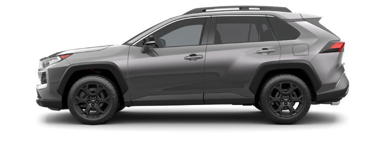 Magnetic Gray Metallic 2020 Toyota RAV4 on White Background