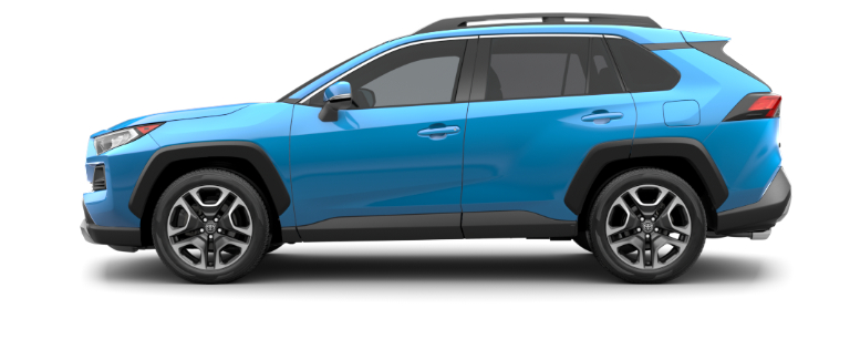 Blue Flame 2020 Toyota RAV4 on White Background