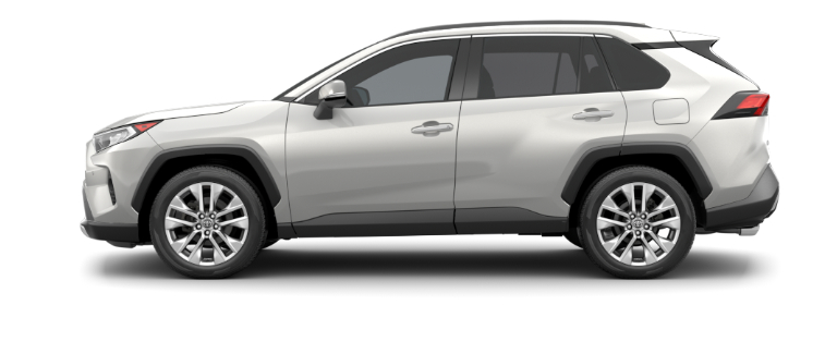 Blizzard Pearl 2020 Toyota RAV4 on White Background