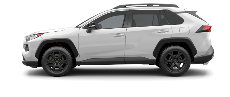 Super White 2020 Toyota RAV4 on White Background